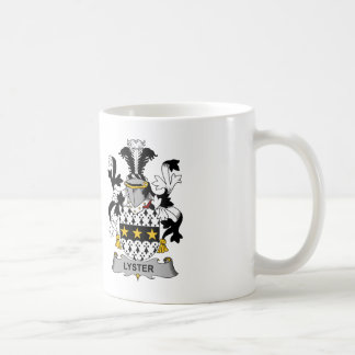 Escudo de la familia del Lyster Tazas De Café