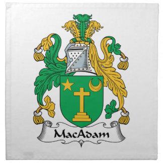 Escudo de la familia del macadán servilleta