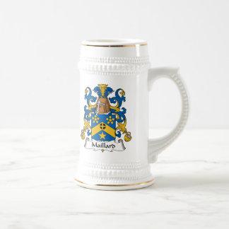 Escudo de la familia del Maillard Jarra De Cerveza