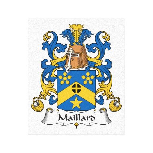 Escudo de la familia del Maillard Impresión En Lona