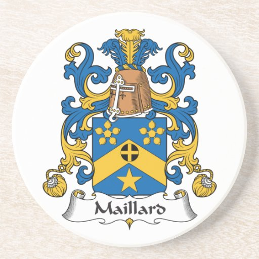 Escudo de la familia del Maillard Posavasos Cerveza