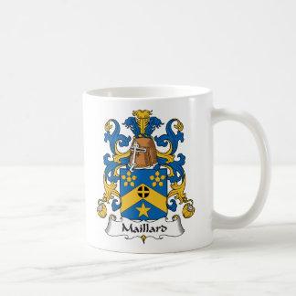 Escudo de la familia del Maillard Tazas De Café