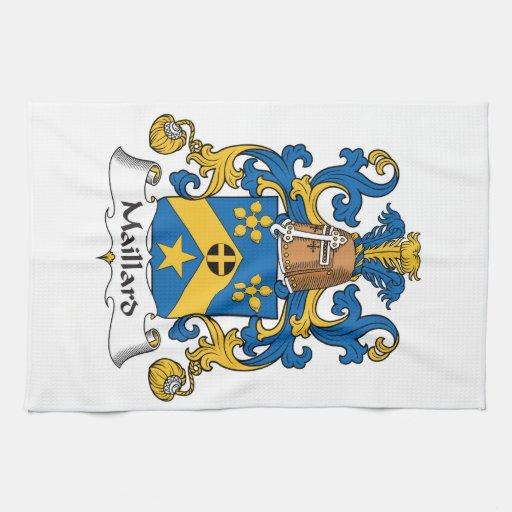 Escudo de la familia del Maillard Toalla De Mano