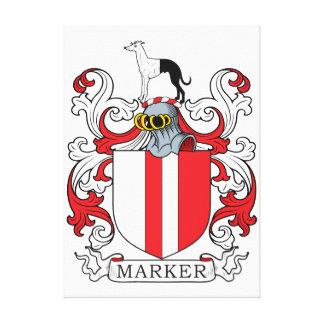 Escudo de la familia del marcador impresion de lienzo