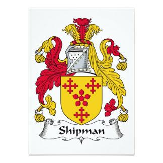 Escudo de la familia del marinero invitaciones personalizada