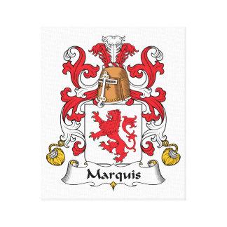 Escudo de la familia del marqués impresión en lona