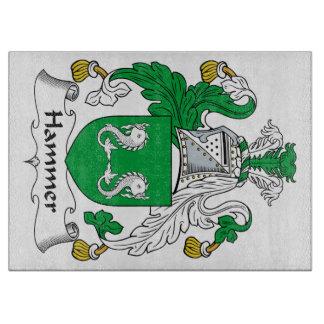 Escudo de la familia del martillo tablas de cortar