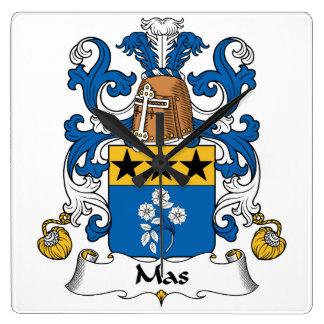 Escudo de la familia del Mas Reloj Cuadrado