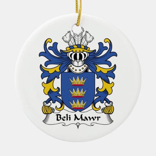 Escudo de la familia del Mawr de Beli Ornamento Para Arbol De Navidad