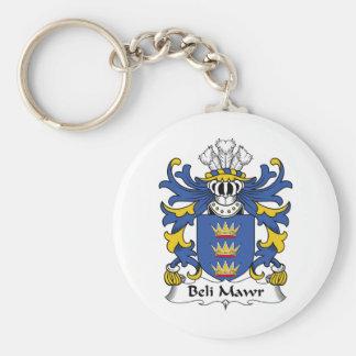 Escudo de la familia del Mawr de Beli Llavero Redondo Tipo Pin