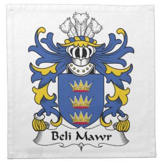 Escudo de la familia del Mawr de Beli Servilletas Imprimidas
