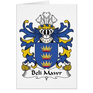 Escudo de la familia del Mawr de Beli Tarjeta De Felicitación