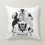 Escudo de la familia del maxwell almohadas