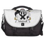 Escudo de la familia del maxwell bolsas para portátil