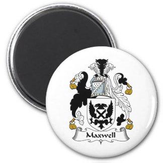 Escudo de la familia del maxwell imán redondo 5 cm