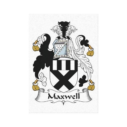Escudo de la familia del maxwell impresion de lienzo