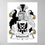 Escudo de la familia del maxwell poster