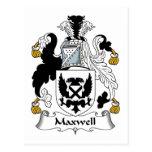 Escudo de la familia del maxwell tarjetas postales