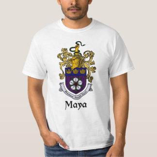 Escudo de la familia del maya/camiseta del escudo playeras