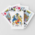 Escudo de la familia del mayordomo baraja cartas de poker