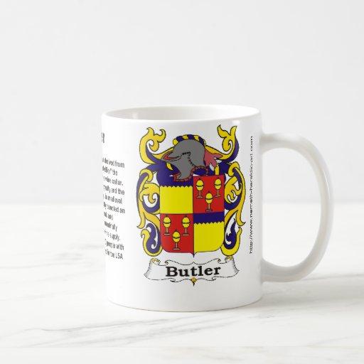 Escudo de la familia del mayordomo en una taza