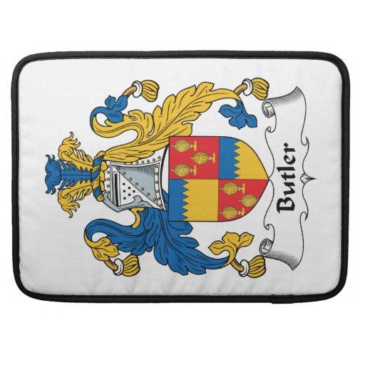 Escudo de la familia del mayordomo funda para macbooks