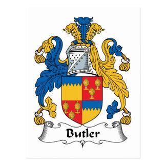 Escudo de la familia del mayordomo postales