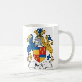 Escudo de la familia del mayordomo tazas de café