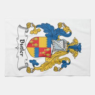 Escudo de la familia del mayordomo toalla de mano