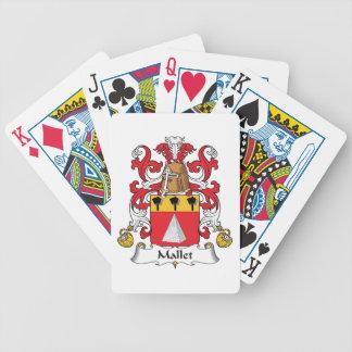 Escudo de la familia del mazo barajas de cartas