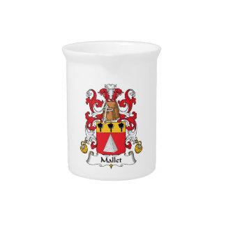 Escudo de la familia del mazo jarras de beber