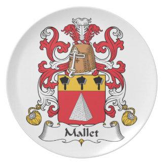 Escudo de la familia del mazo plato de comida