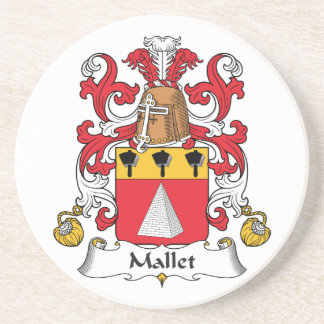 Escudo de la familia del mazo posavaso para bebida