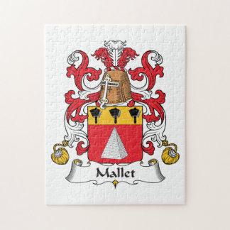 Escudo de la familia del mazo puzzle con fotos