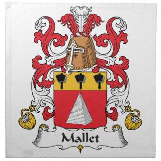 Escudo de la familia del mazo servilleta imprimida