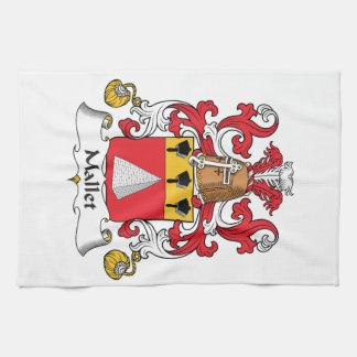 Escudo de la familia del mazo toallas de mano