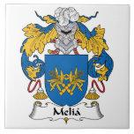 Escudo de la familia del Melia Azulejo Ceramica
