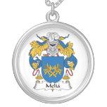 Escudo de la familia del Melia Colgante Personalizado