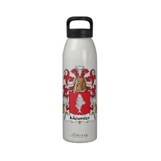 Escudo de la familia del meunier botellas de beber