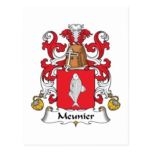 Escudo de la familia del meunier postales