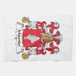 Escudo de la familia del meunier toallas de mano
