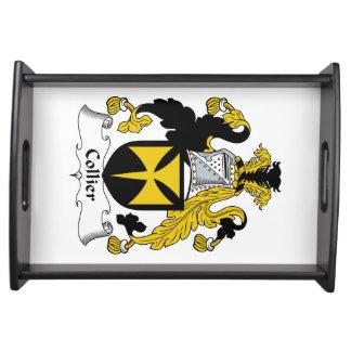 Escudo de la familia del minero bandejas