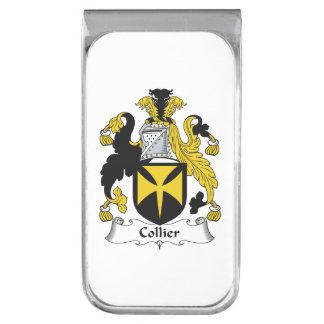 Escudo de la familia del minero clip para billetes plateado