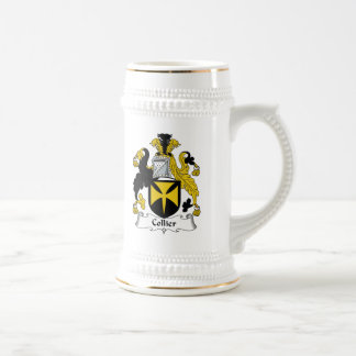 Escudo de la familia del minero jarra de cerveza