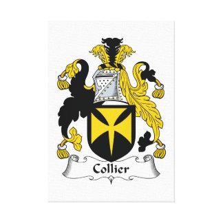 Escudo de la familia del minero impresión en lienzo estirada