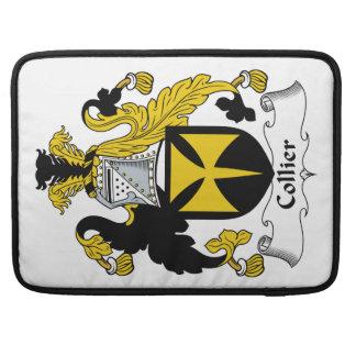 Escudo de la familia del minero fundas para macbook pro