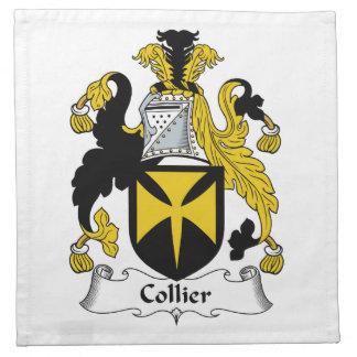 Escudo de la familia del minero servilletas imprimidas