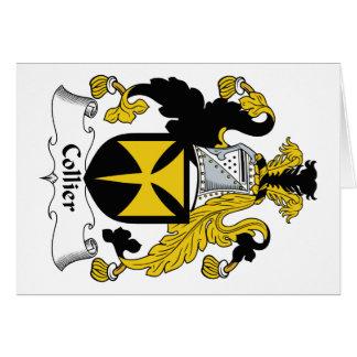 Escudo de la familia del minero tarjeta de felicitación