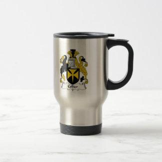 Escudo de la familia del minero taza de viaje de acero inoxidable