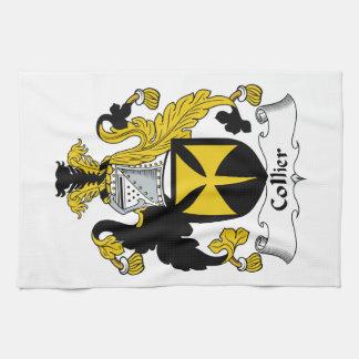 Escudo de la familia del minero toallas de mano